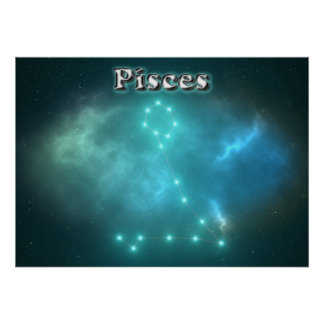 Pisces constellation poster
