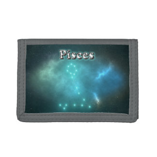 Pisces constellation tri-fold wallet
