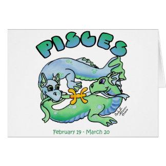 pisces cute zodiac baby dragon card