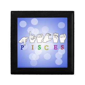 PISCES FINGERSPELLED ASL NAME ZODIAC SIGN GIFT BOX