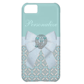 Pisces Fish Faux Jewels & Bow iPhone 5C Cases
