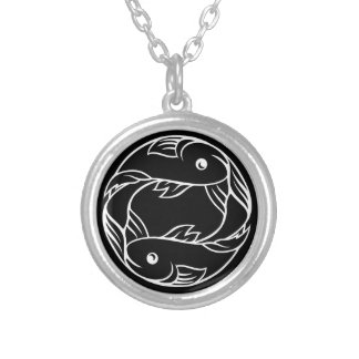 Pisces Fish Zodiac Astrology Sign Silver Plated Necklace
