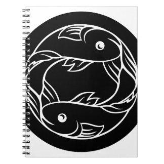 Pisces Fish Zodiac Astrology Sign Spiral Notebook
