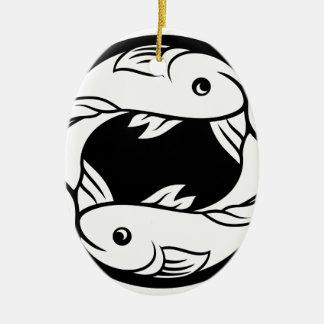 Pisces Fish Zodiac Horoscope Astrology Sign Ceramic Ornament