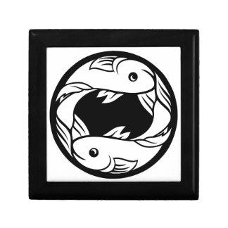 Pisces Fish Zodiac Horoscope Astrology Sign Gift Box