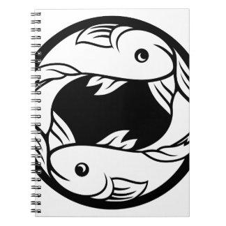Pisces Fish Zodiac Horoscope Astrology Sign Notebooks