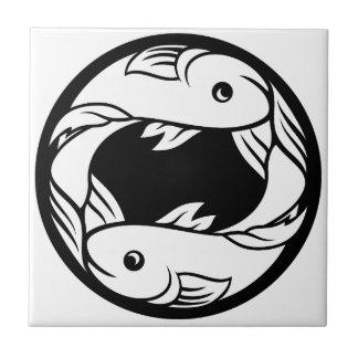 Pisces Fish Zodiac Horoscope Astrology Sign Tile