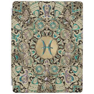 Pisces Gold Lace Mandala iPad Cover