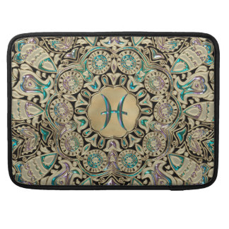 Pisces Gold Lace Mandala Sleeve For MacBook Pro