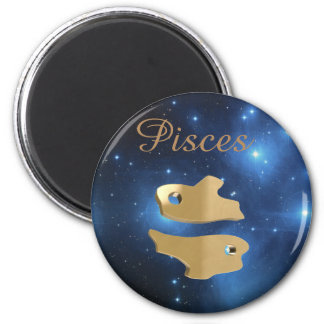 Pisces golden sign magnet