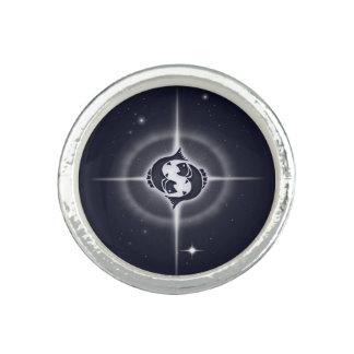 Pisces Horoscope Midnight Blue Rings