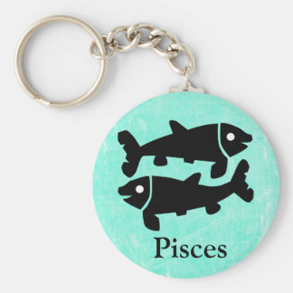 Pisces Horoscope Zodiac Astrological Key Chain