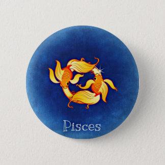 Pisces Horoscope Zodiac Astrological Sign Button