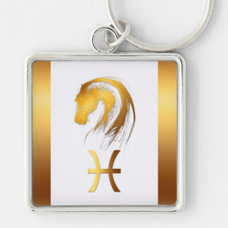 Pisces Horse Western Chinese Astrology Keychain