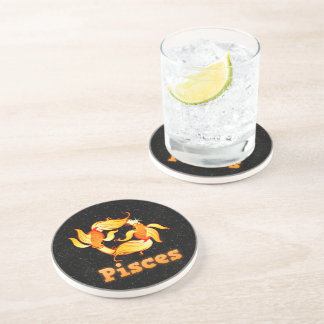 Pisces illustration coaster