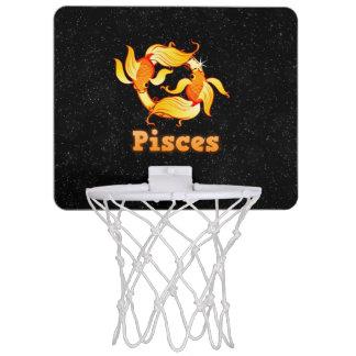 Pisces illustration mini basketball hoop