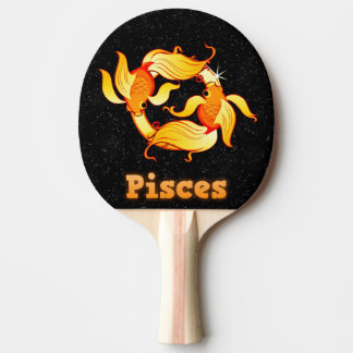 Pisces illustration ping pong paddle