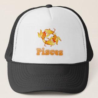 Pisces illustration trucker hat