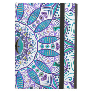Pisces Mandala in Turquoise and Purple iPad Air Case