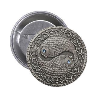 Pisces Medallion 2 Inch Round Button