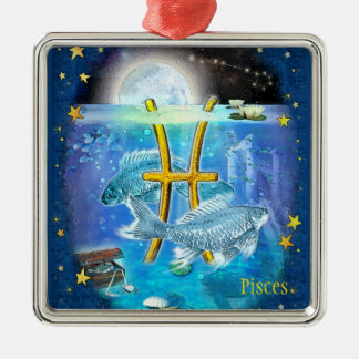 Pisces Metal Ornament