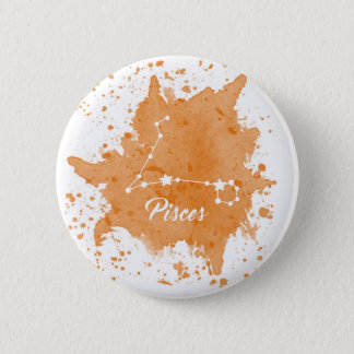 Pisces Orange Button