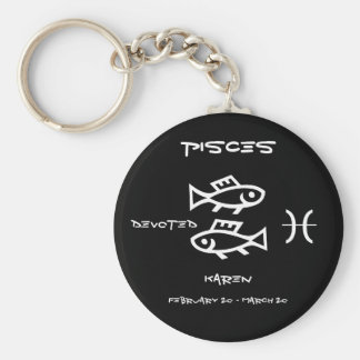 Pisces Personalized Keychain