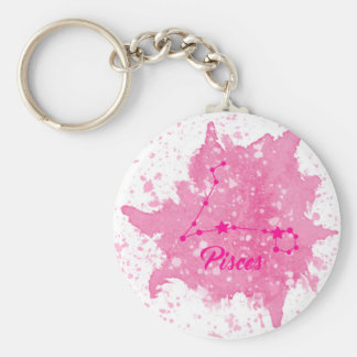Pisces Pink Keychain