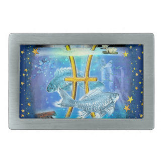 Pisces Rectangular Belt Buckle