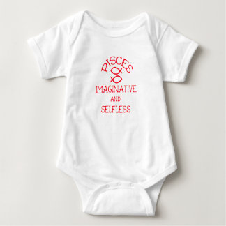 Pisces (Red Text) Baby Bodysuit