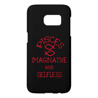 Pisces (Red Text) Samsung Galaxy S7 Case
