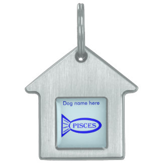 Pisces Star Sign Fish Custom Pet Tag