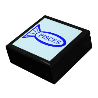 Pisces Star Sign Fish Gift Box
