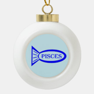 Pisces Star Sign Fish Ornament