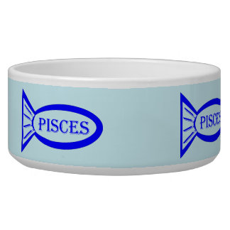 Pisces Star Sign Fish Pet Bowl