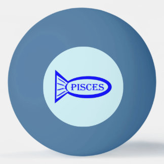 Pisces Star Sign Fish Ping Pong Ball