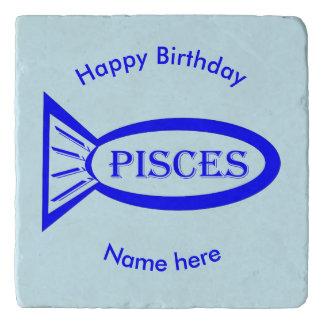 Pisces Star Sign Fish Stone Trivet