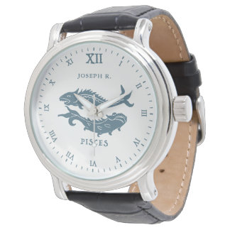 Pisces Star Sign Vintage Art | Customized Watch