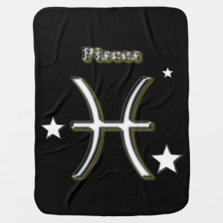 Pisces symbol baby blanket