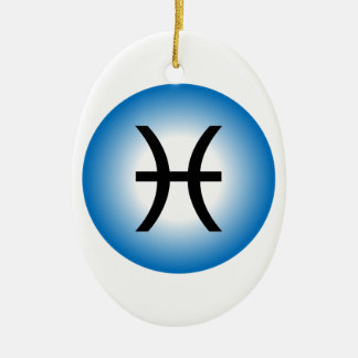 PISCES SYMBOL CERAMIC ORNAMENT