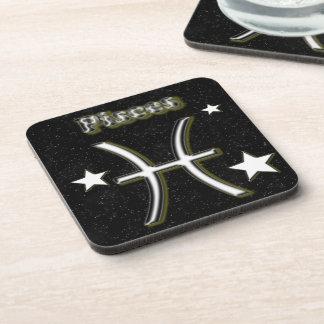 Pisces symbol coaster
