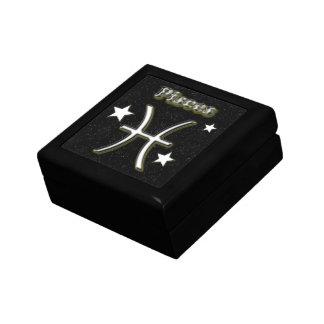 Pisces symbol gift box