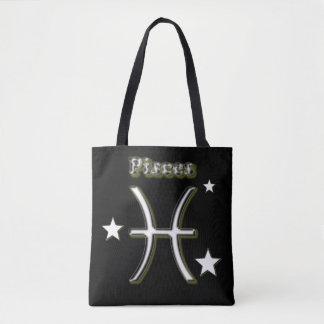 Pisces symbol tote bag