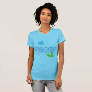 Pisces Tee-shirt Born In March With Blue Gemstone T-Shirt