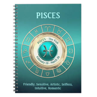 PISCES - The Fish Zodiac Sign Personality Traits Notebooks