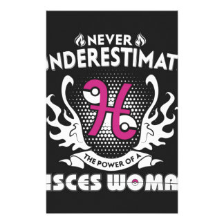 pisces women stationery