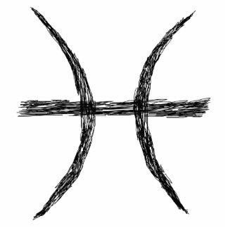 Pisces. Zodiac Astrology Sign. Black. Photo Sculptures