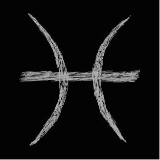 Pisces. Zodiac Astrology Sign. Black. Photo Cutout