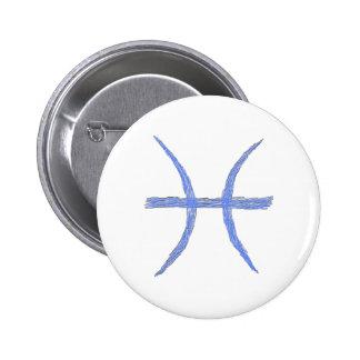 Pisces Zodiac Astrology Sign Pinback Buttons