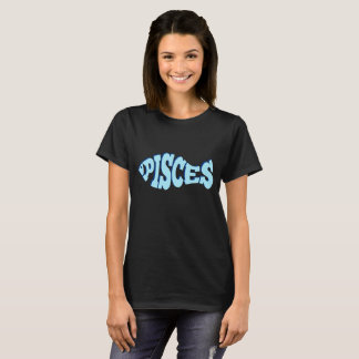 Pisces - Zodiac Fish (3d light blue) T-Shirt